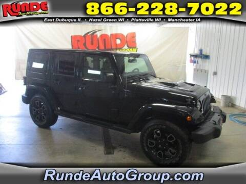 2018 Jeep Wrangler JK Unlimited for sale at Runde Chevrolet in East Dubuque IL