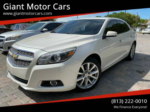 2013 Chevrolet Malibu for sale at Giant Motor Cars in Tampa FL