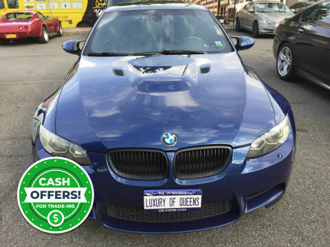 2012 BMW M3 for sale at LUXURY OF QUEENS,INC in Long Island City NY