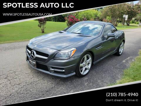 2016 Mercedes-Benz SLK for sale at SPOTLESS AUTO LLC in San Antonio TX
