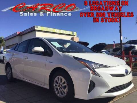 2017 Toyota Prius for sale at CARCO SALES & FINANCE in Chula Vista CA