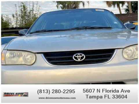 2001 Toyota Corolla for sale at Drive Now Motors USA in Tampa FL