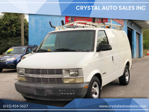 2001 Chevrolet Astro Cargo for sale at Crystal Auto Sales Inc in Nashville TN