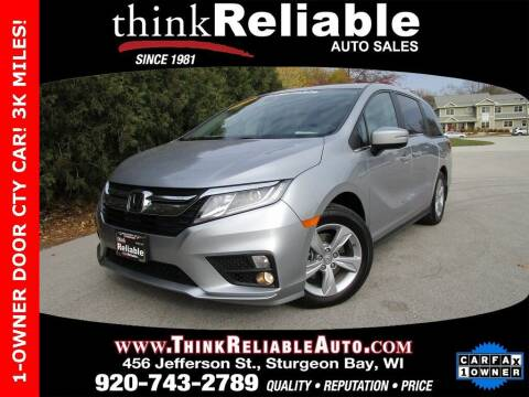 2020 Honda Odyssey for sale at RELIABLE AUTOMOBILE SALES, INC in Sturgeon Bay WI