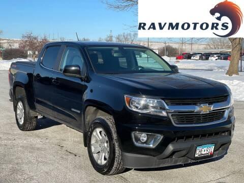 2018 Chevrolet Colorado for sale at RAVMOTORS in Burnsville MN