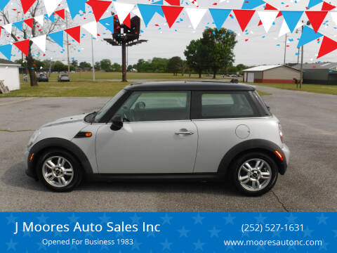 2011 MINI Cooper for sale at J Moores Auto Sales Inc in Kinston NC