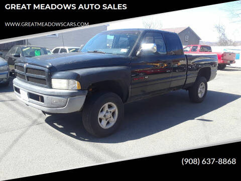 1997 Dodge Ram Pickup 1500 for sale at GREAT MEADOWS AUTO SALES in Great Meadows NJ