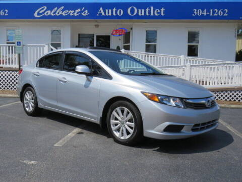 2012 Honda Civic for sale at Colbert's Auto Outlet in Hickory NC