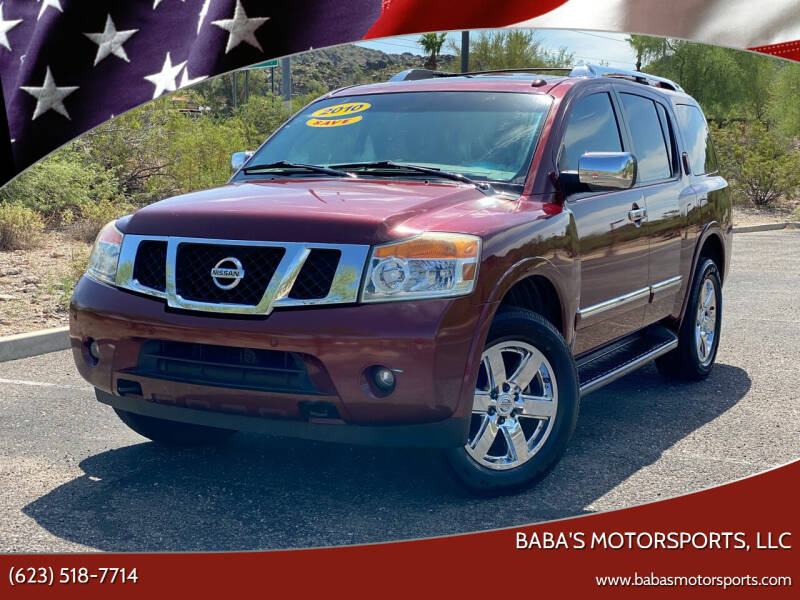 2010 Nissan Armada for sale at Baba's Motorsports, LLC in Phoenix AZ
