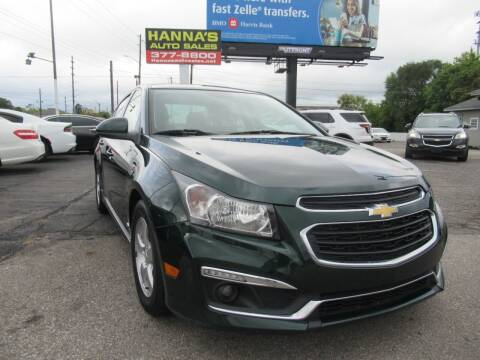 2015 Chevrolet Cruze for sale at Hanna's Auto Sales in Indianapolis IN