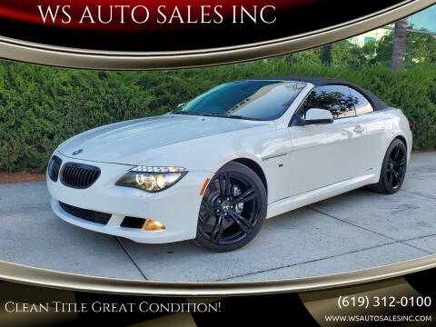2010 BMW 6 Series for sale at WS AUTO SALES INC in El Cajon CA