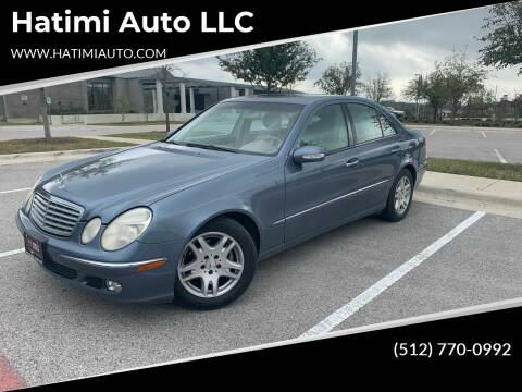 2005 Mercedes-Benz E-Class for sale at Hatimi Auto LLC in Buda TX