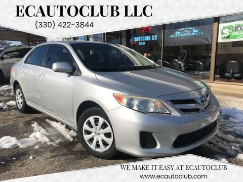 2011 Toyota Corolla for sale at ECAUTOCLUB LLC in Kent OH