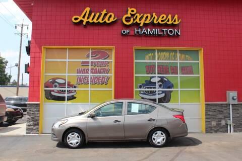 2016 Nissan Versa for sale at AUTO EXPRESS OF HAMILTON LLC in Hamilton OH