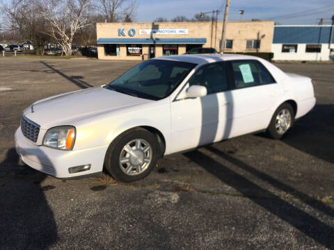 2004 Cadillac DeVille for sale at K O Motors in Akron OH