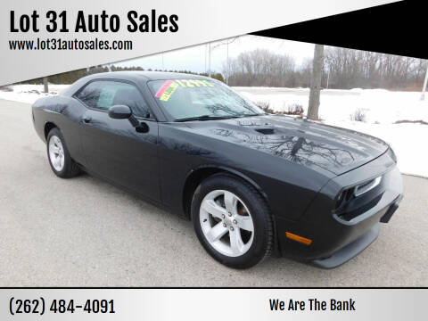 2013 Dodge Challenger for sale at Lot 31 Auto Sales in Kenosha WI