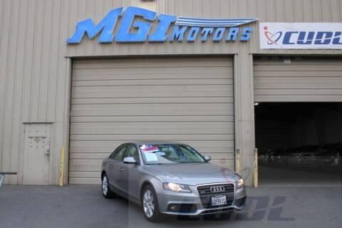 2011 Audi A4 for sale at MGI Motors in Sacramento CA