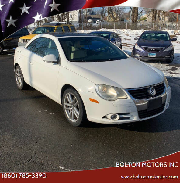 2008 Volkswagen Eos for sale at BOLTON MOTORS INC in Bolton CT