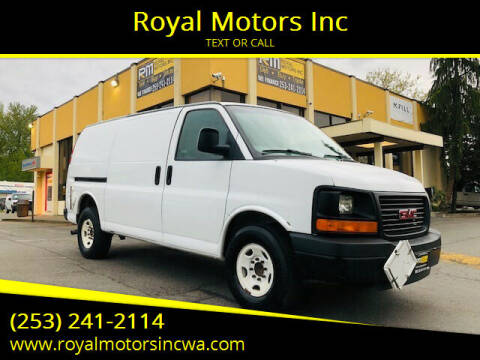 2012 GMC Savana Cargo for sale at Royal Motors Inc in Kent WA