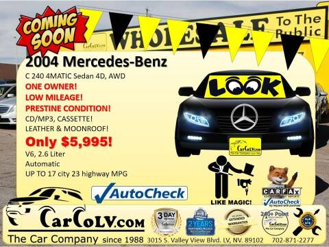 2004 Mercedes-Benz C-Class for sale at The Car Company in Las Vegas NV