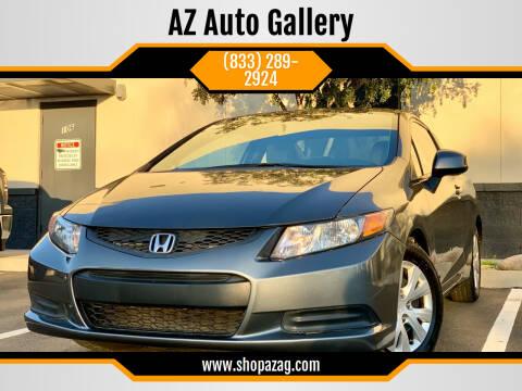 2012 Honda Civic for sale at AZ Auto Gallery in Mesa AZ