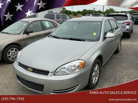 2008 Chevrolet Impala for sale at Paris Auto Sales & Service in Big Rapids MI