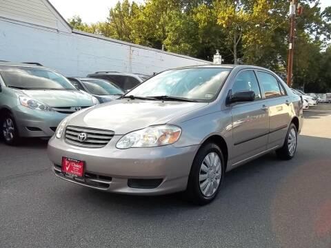 2003 Toyota Corolla for sale at 1st Choice Auto Sales in Fairfax VA