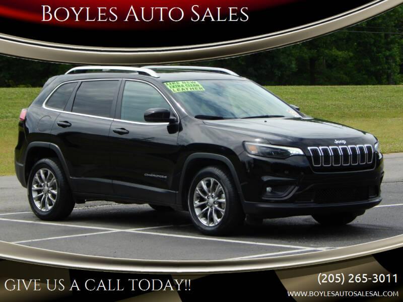 2019 Jeep Cherokee for sale at Boyles Auto Sales in Jasper AL
