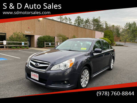 2011 Subaru Legacy for sale at S & D Auto Sales in Maynard MA