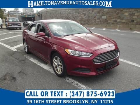 2014 Ford Fusion for sale at Hamilton Avenue Auto Sales in Brooklyn NY