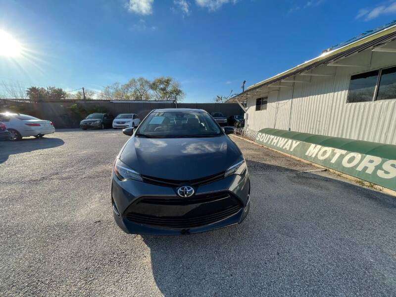 2017 Toyota Corolla for sale at SOUTHWAY MOTORS in Houston TX