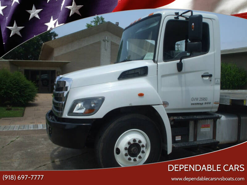 2018 HINO 268 FLATBED W/LIFT for sale at DEPENDABLE CARS in Mannford OK