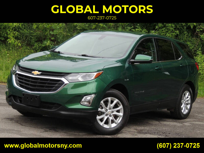 2018 Chevrolet Equinox for sale at GLOBAL MOTORS in Binghamton NY