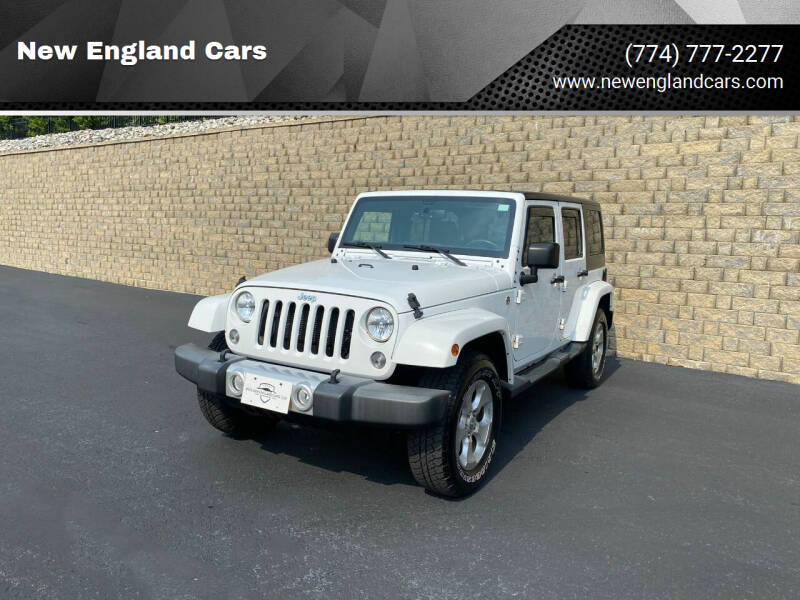 2015 Jeep Wrangler Unlimited for sale at New England Cars in Attleboro MA