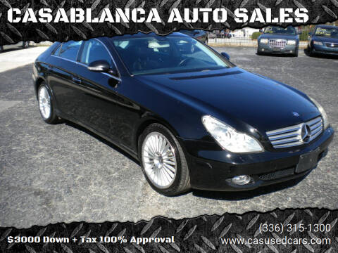 2006 Mercedes-Benz CLS for sale at CASABLANCA AUTO SALES in Greensboro NC