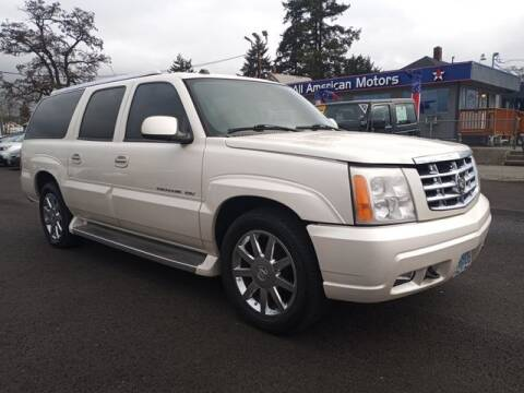 2005 Cadillac Escalade ESV for sale at All American Motors in Tacoma WA