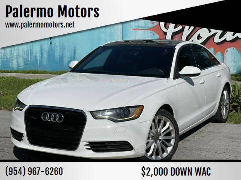 2014 Audi A6 for sale at Palermo Motors in Hollywood FL