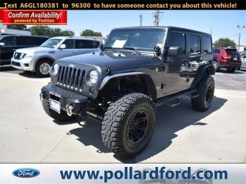 2016 Jeep Wrangler Unlimited for sale at South Plains Autoplex by RANDY BUCHANAN in Lubbock TX