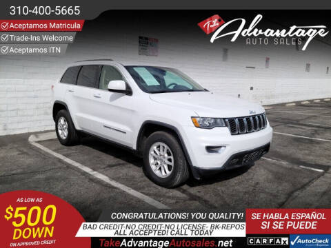 2018 Jeep Grand Cherokee for sale at ADVANTAGE AUTO SALES INC in Bell CA