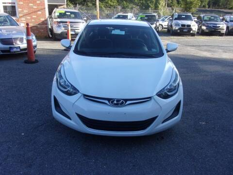 2016 Hyundai Elantra for sale at Balic Autos Inc in Lanham MD