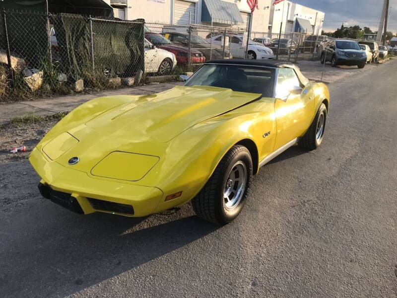 1975 Chevrolet Corvette for sale at Elite Cars Pro in Oakland Park FL