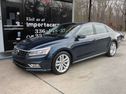 2018 Volkswagen Passat for sale at importacar in Madison NC