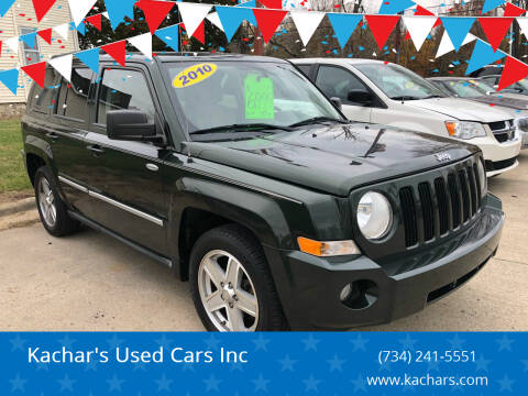 2010 Jeep Patriot for sale at Kachar's Used Cars Inc in Monroe MI