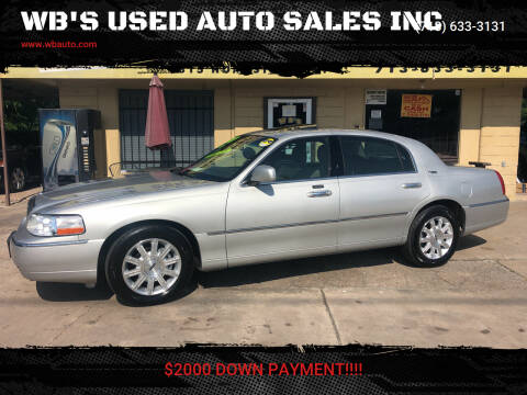 2007 Lincoln Town Car for sale at WB'S USED AUTO SALES INC in Houston TX
