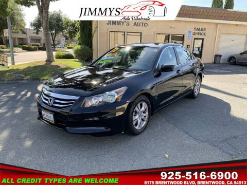 2012 Honda Accord for sale at JIMMY'S AUTO WHOLESALE in Brentwood CA