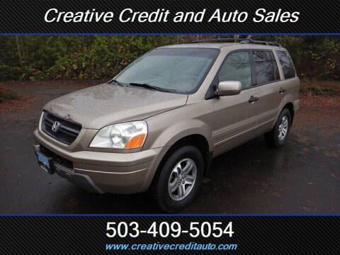 2003 Honda Pilot for sale at Creative Credit & Auto Sales in Salem OR
