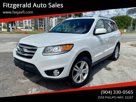 2012 Hyundai Santa Fe for sale at Fitzgerald Auto Sales in Jacksonville FL