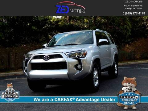 2018 Toyota 4Runner for sale at Zed Motors in Raleigh NC