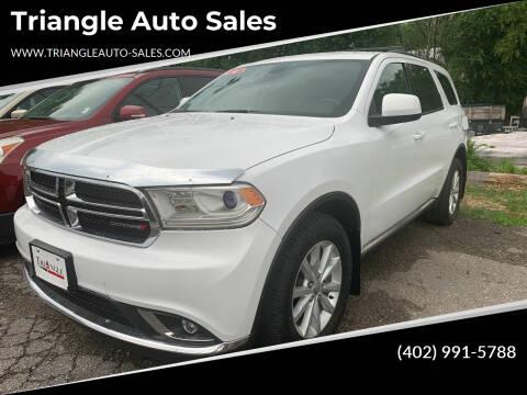 2014 Dodge Durango for sale at Triangle Auto Sales in Omaha NE