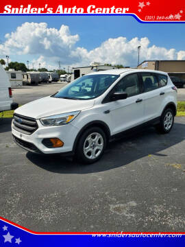 2017 Ford Escape for sale at Snider's Auto Center in Titusville FL